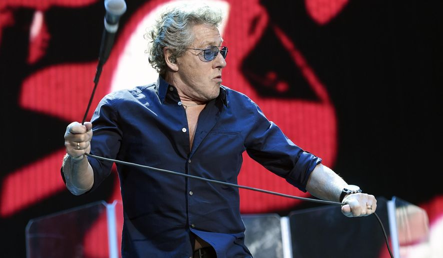 "FILE - In this Oct. 9, 2016, file photo, Roger Daltrey of The Who performs on day 3 of the 2016 Desert Trip music festival at Empire Polo Field in Indio, Calif. Daltrey told NME for a story published online on March 29, 2017 that ""a dead dog"" would have beaten Hillary Clinton in the U.S. presidential election. (Photo by Chris Pizzello/Invision/AP, File)"
