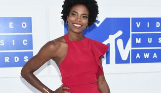 """FILE - In this Aug. 28, 2016 file photo, Sasheer Zamata arrives at the MTV Video Music Awards in New York. Zamata, a former member of the Upright Citizens Brigade who plays a mean Beyonce and Rihanna on """"SNL,"""" is debuting her first special, called """"Pizza Mind,"""" on the internet platform Seeso on Thursday, March 28, 2017. (Photo by Evan Agostini/Invision/AP, File)"""