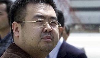 This May 4, 2001, file photo shows Kim Jong-nam, exiled half-brother of North Korea's leader Kim Jong-un, in Narita, Japan. (AP Photos/Shizuo Kambayashi, File)