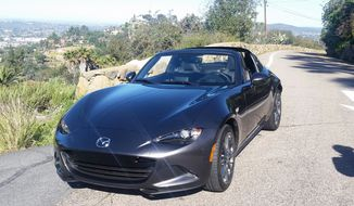 """The Mazda folks said this 2017 Mazda Miata is the perfect car for the """"daily driver, a weekend toy and a multiple-time championship-winning race car, alike."""" (Photo by Rita Cook)."""