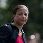Records of former National Security Adviser Susan E. Rice that were shipped to a heavily secure archive for Barack Obama's presidential library will eventually be reviewed by the House Permanent Select Committee on Intelligence, two high-level sources told The Washington Times. (Associated Press/File)