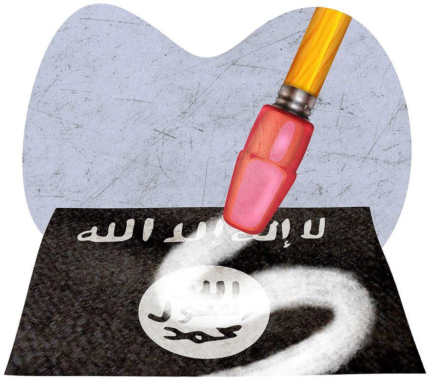 Erasing Radical Ideology Illustration by Greg Groesch/The Washington Times