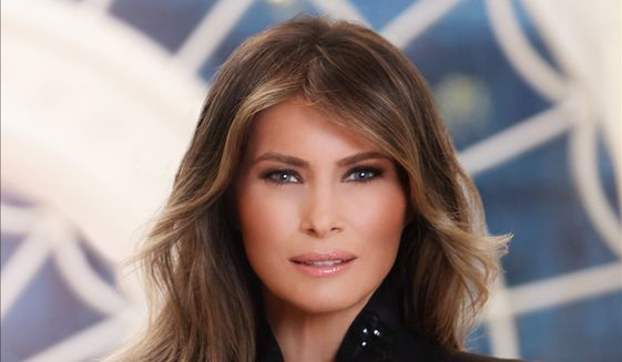 First lady Melania Trump in her official White House portrait released Monday. (White House)