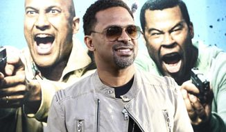 "FILE - In this April 27, 2016, file photo, Mike Epps attends the LA Premiere of ""Keanu"" held at ArcLight Cinerama Dome Theater in Los Angeles. Epps apologized on April 2, 2017, for dancing on stage with a kangaroo at in front of a screaming crowd at a Detroit comedy show. (Photo by John Salangsang/Invision/AP, File)"
