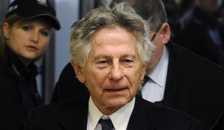 FILE - This Feb. 25, 2015 file photo shows filmmaker Roman Polanski during a break in a hearing concerning a U.S. request for his extradition over 1977 charges of sex with a minor, in Krakow, Poland. A Los Angeles judge on Monday, April 3, 2017 rejected a request by Polanski to end his 40-year-old case for unlawful sex with a minor without the director's presence in court, as well as other request that would draw the case to a close. (AP Photo/Alik Keplicz, File)