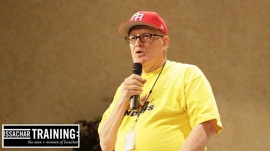 Raymond Cruz of Simi Valley, California, preaching to 350 former prisoners.