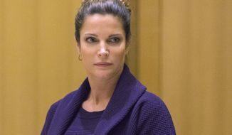 FILE - In this April 4, 2016 file photo, Stephanie Seymour appears  Superior Court in the Stamford, Conn., for a hearing on her February 2016 drunken driving charges. On Tuesday, April 4, 2017, charges were dropped after the former supermodel completed a year-long program for first-time offenders. (Douglas Healey/New York Post via AP, Pool, File)