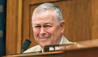 FILE - In this June 14, 2016 file photo, Rep. Dana Rohrabacher, R-Calif. is seen on Capitol Hill in Washington. Rohrabacher, who's been Russia's leading defender on Capitol Hill lashed out at the country's critics as he prepared to meet Tuesday, April 4, 2017, with President Donald Trump. (AP Photo/Paul Holston)