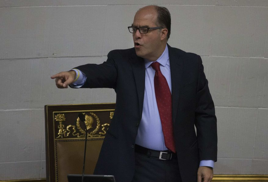 Julio Borges, speaker of the opposition-dominated National Assembly, said President Trump is among a growing number of world leaders who understand that Venezuela's meltdown is having harrowing effects and sparking instability far beyond its borders. (Associated Press/File)