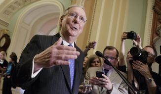 """There's no sentiment to change the legislative filibuster,"" Senate Majority Leader Mitch McConnell, Kentucky Republican, said Thursday. (Associated Press)"