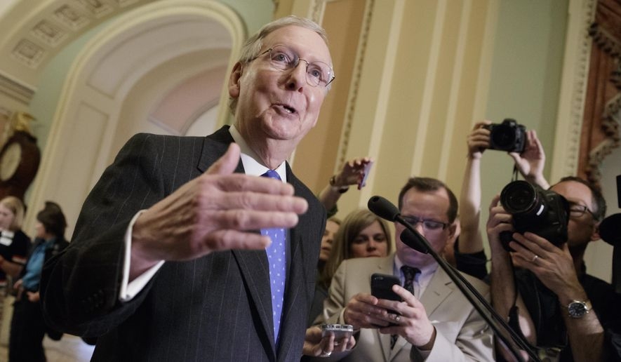 """""""There's no sentiment to change the legislative filibuster,"""" Senate Majority Leader Mitch McConnell, Kentucky Republican, said Thursday. (Associated Press)"""