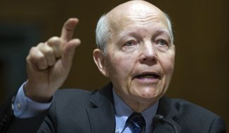 IRS Commissioner John Koskinen testifies on Capitol Hill in Washington, Thursday, April 6, 2017, before the Senate Finance Committee . (AP Photo/Cliff Owen)
