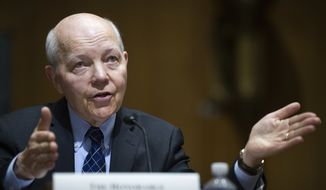 Then-IRS Commissioner John Koskinen testifies on Capitol Hill in Washington, Thursday, April 6, 2017, before the Senate Finance Committee. (AP Photo/Cliff Owen) ** FILE **