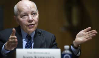 IRS Commissioner John Koskinen testifies on Capitol Hill in Washington, Thursday, April 6, 2017, before the Senate Finance Committee. (AP Photo/Cliff Owen)