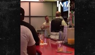 """Actor Shia LaBeouf was caught on video berating a bartender and calling him a """"racist"""" before being kicked out of a bowling alley in Los Angeles Wednesday night."""