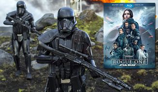 "Death troopers invade in ""Rogue One: A Star Wars Story,"" available on Blu-ray from Walt Disney Studios Home Entertainment."