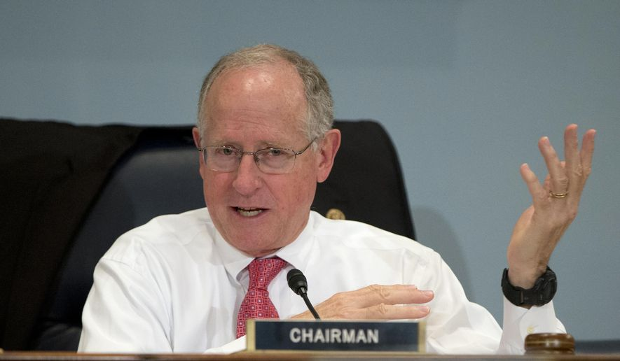 In this Oct. 7, 2015, file photo, Rep. Mike Conaway, R-Texas, speaks on Capitol Hill in Washington. (AP Photo/Carolyn Kaster, File)