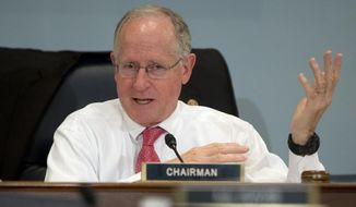 FILE - In this Oct. 7, 2015 file photo, Rep. Mike Conaway, R-Texas speaks on Capitol Hill in Washington. Conaway has been tapped to lead the House probe into Russian interference in the 2016 presidential election.  (AP Photo/Carolyn Kaster, File)