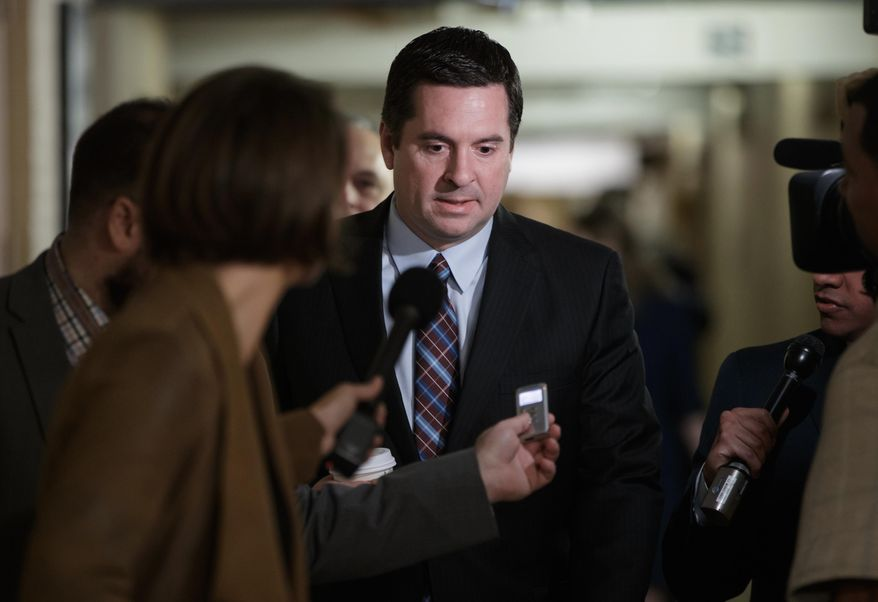Rep. Devin Nunes, California Republican and chairman of the House Permanent Select Committee on Intelligence, said lawmakers hope to get to the bottom of whether U.S. authorities were investigating Russia's atomic energy giant Rosatom at the time the U.S. government signed off on the deal. (Associated Press/File)