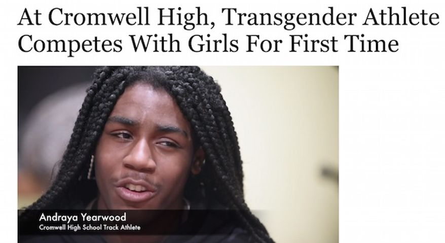 Cromwell High School freshman Andraya Yearwood, 15, identifies as a girl and now runs on the female track team. (Image: Hartford Courant website screenshot)