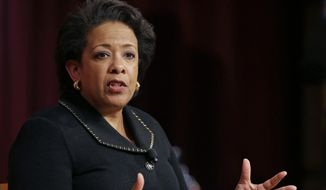 As the Obama administration's attorney general, Loretta E. Lynch suggested language that closely mirrored what the Clinton campaign was using, fired FBI Director James B. Comey testified on Thursday. (Associated Press/File)