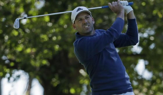 Sergio Garcia, of Spain, hits a drive on the fourth hole during the second round of the Masters golf tournament Friday, April 7, 2017, in Augusta, Ga. (AP Photo/Chris Carlson)