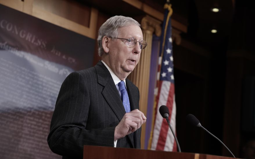 Senate Majority Leader Mitch McConnell has promised a vote on health care reform soon. (Associated Press/File)