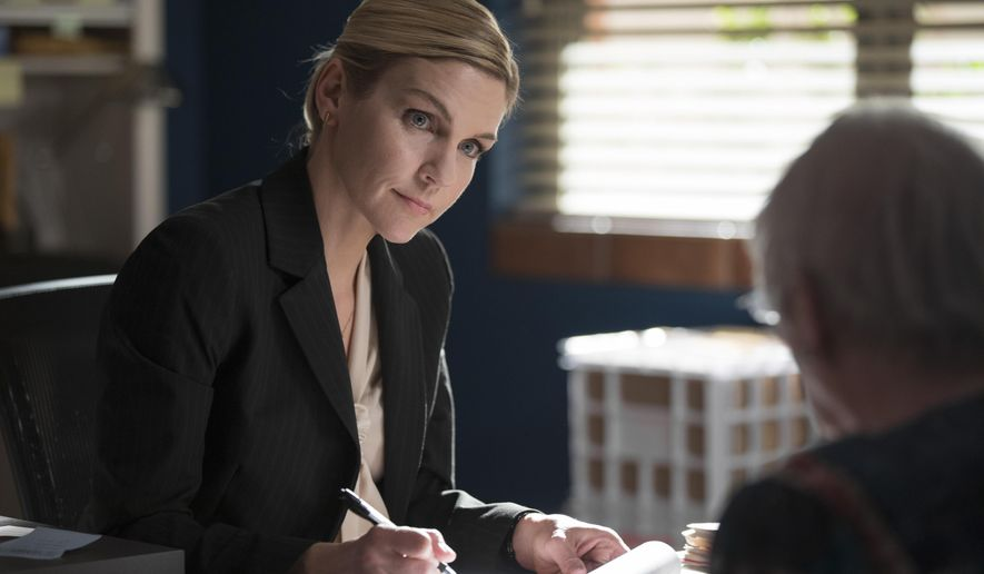 "In this image released by AMC, Rhea Seehorn portrays Kim Wexler in a scene from, ""Better Call Saul,"" premiering its third season on Monday at 10 p.m. EDT. (Michele K. Short/AMC/Sony Pictures Television via AP)"