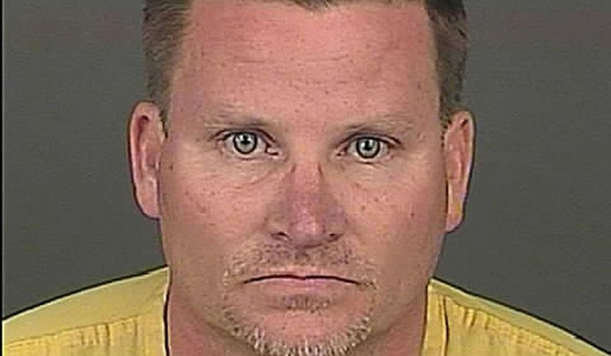 FILE - This undated file photo provided by the Denver Police Department shows Richard Kirk.  Kirk, of Denver, who claimed that eating marijuana-infused candy led him to kill his wife, faces between 25 and 30 years in prison when he's sentenced Friday, April 7, 2017. (AP Photo/Denver Police Department, File)