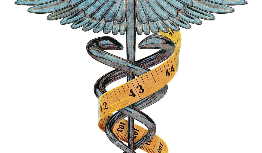 Custom Fit Healthcare Illustration by Greg Groesch/The Washington Times