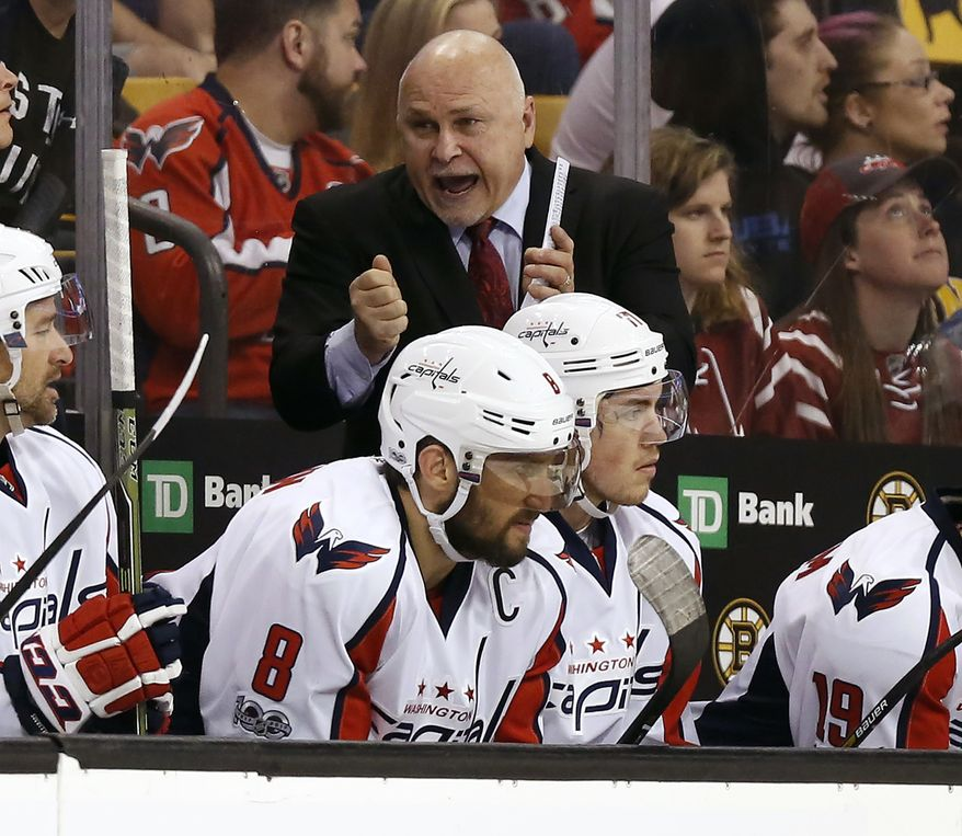 Washington Capitals Head Coach Barry Trotz Talks To His