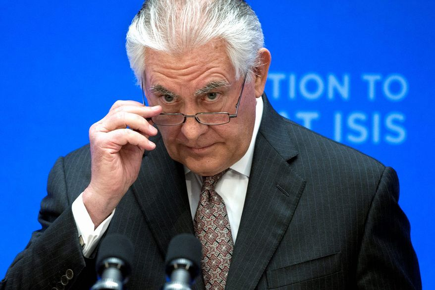 Secretary of State Rex Tillerson (Associated Press) ** FILE **