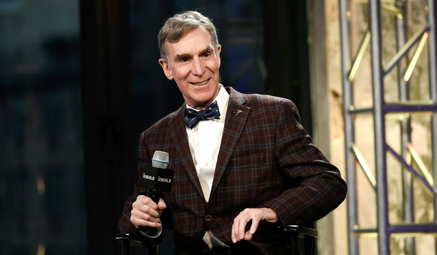 "Bill Nye, the Science Guy's prominent role in the March for Science has igniting a furious debate on race, gender and ""privilege."" (Associated Press) **FILE**"