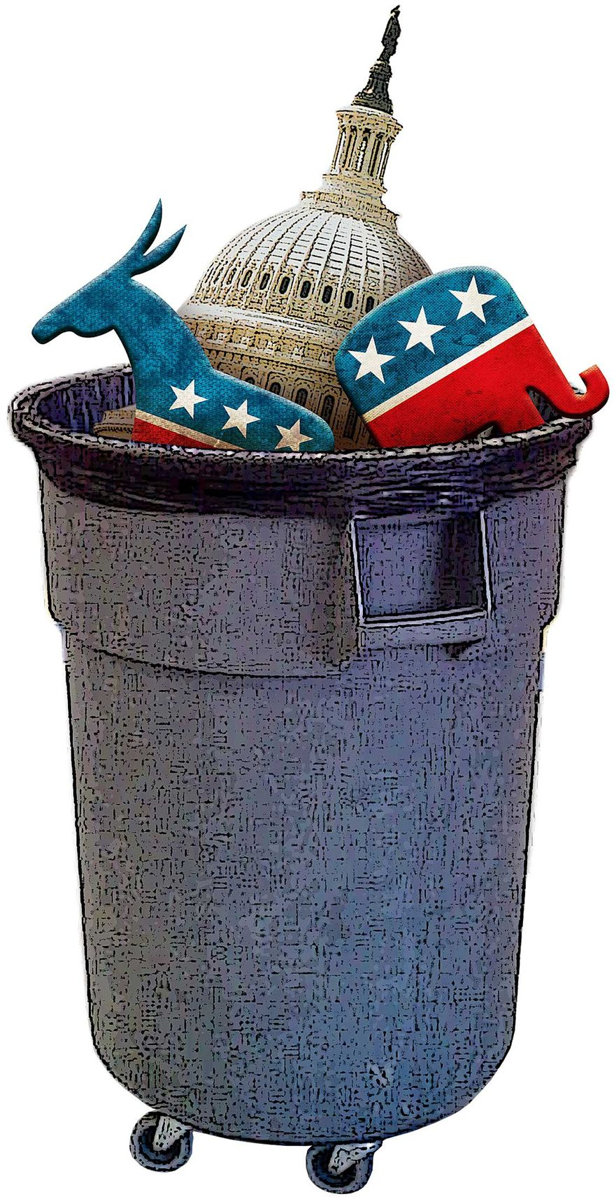 Congress' Failure to Do Its Job Illustration by Greg Groesch/The Washington Times