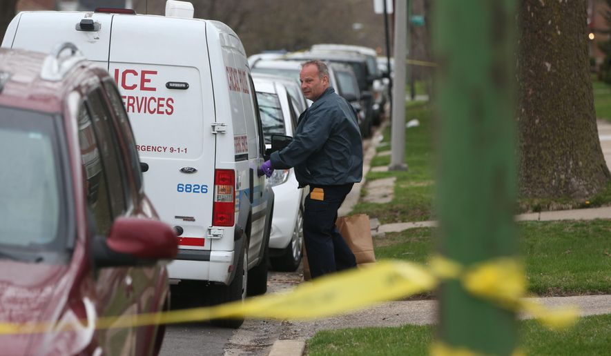 Delightful An Investigator Opens The Door Of A Vehicle Outside A Home On The South  Side Of