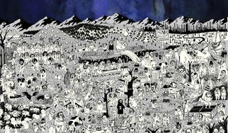 """This cover image released by Sub Pop Records shows """"Pure Comedy,"""" a release by Father John Misty. (Sub Pop Records via AP)"""