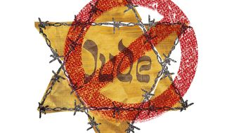 Illustration on stopping anti-Semitism by Greg Groesch/The Washington Times