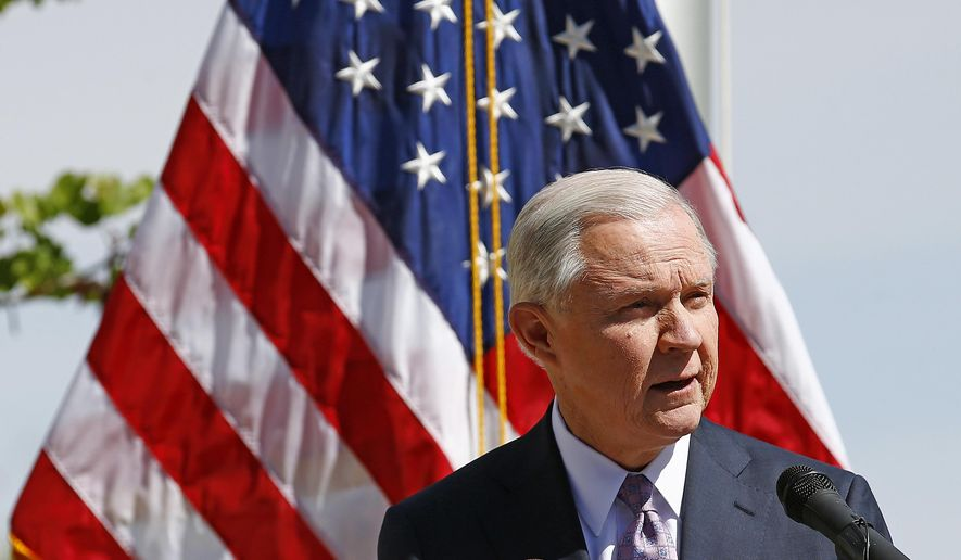 "Attorney General Jeff Sessions ""a new era"" of immigration enforcement after touring the U.S.-Mexico borderin Nogales, Arizona, on Tuesday. (Associated Press)"