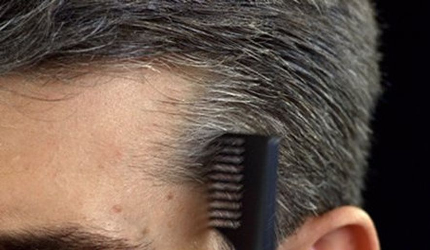 A new study suggests that whiter hair on men is associated with a weaker heart. (Just For Men via Twitter)