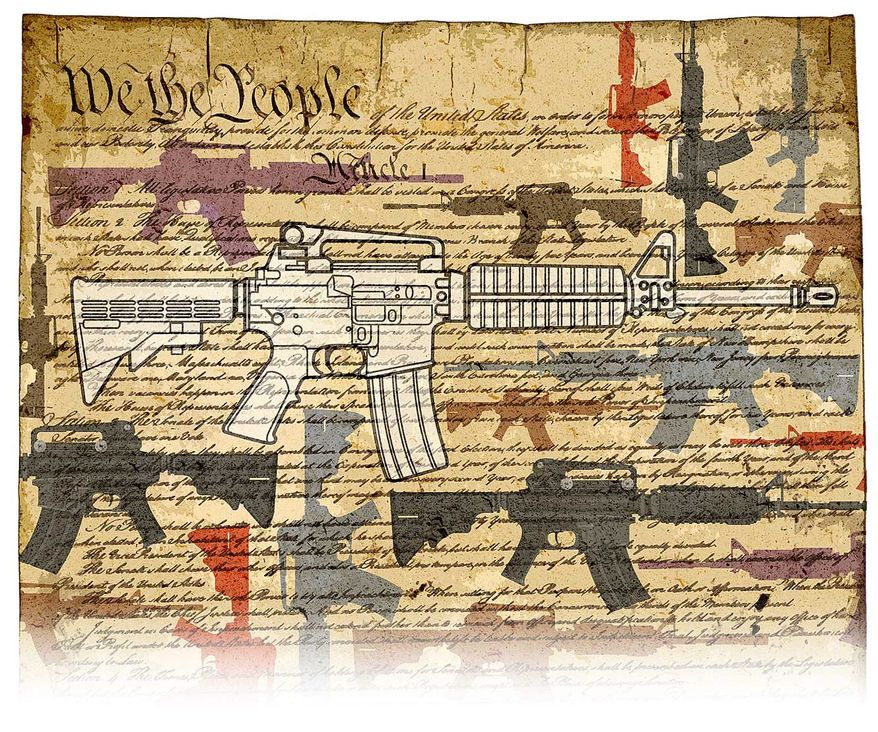 Ownership of the AR-15 Rifle Included in the Constitution Illustration by Greg Groesch/The Washington Times
