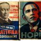 Illustration on comparisons between Stanley Baldwin and Barack Obama               The Washington Times