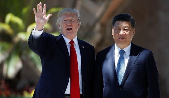 President Trump added weight to his threat to act unilaterally against the nuclear weapons program of North Korea last week by approving U.S. missile strikes on Syria while hosting Chinese President Xi Jinping. (Associated Press)