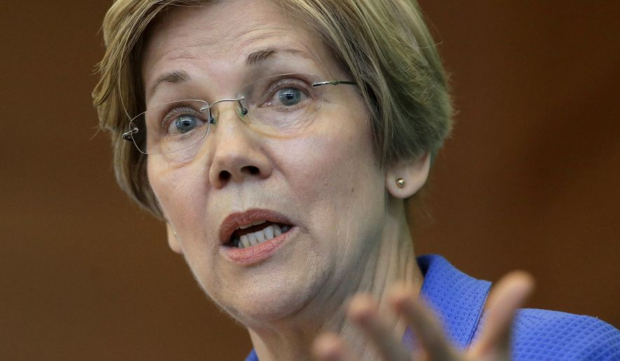 Sen. ElizabethWarren, Massachusetts Democrat, will turn 68 this year. In today's column, Matt Mackowiak argues that Democrats aren't the Party of the Future because much their leadership is over retirement age. (Associated Press) **FILE**