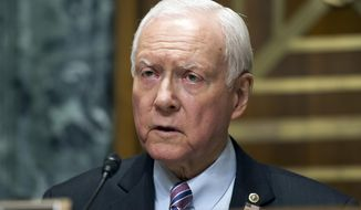 In this April 6, 2017 file photo, Senate Finance Committee Chairman Orrin Hatch of Utah, announces that the committee will meet in executive session to consider the nomination of U.S. Trade Representative Robert Lighthizer on Capitol Hill in Washington. Utah Sen. Orrin Hatch raised about $1.3 million in campaign donations the first three months of this year as he prepares for a possible re-election run next year, according to fundraising numbers provided by Hatch's office on Wednesday. (AP Photo, File/Cliff Owen)