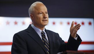 "Rep. Mike Coffman, Colorado Republican, promised voters last year that he would ""stand up"" to President Trump. Both he and Democratic presidential candidate Hillary Clinton won his district by 9 percentage point in November. (Associated Press/File)"