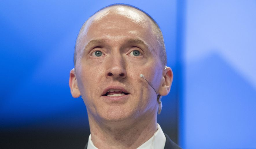 """""""The mistakes are so laughable and humorous they're beyond words,"""" Carter Page says of the dossier making the rounds around Washington. (Associated Press/File)"""
