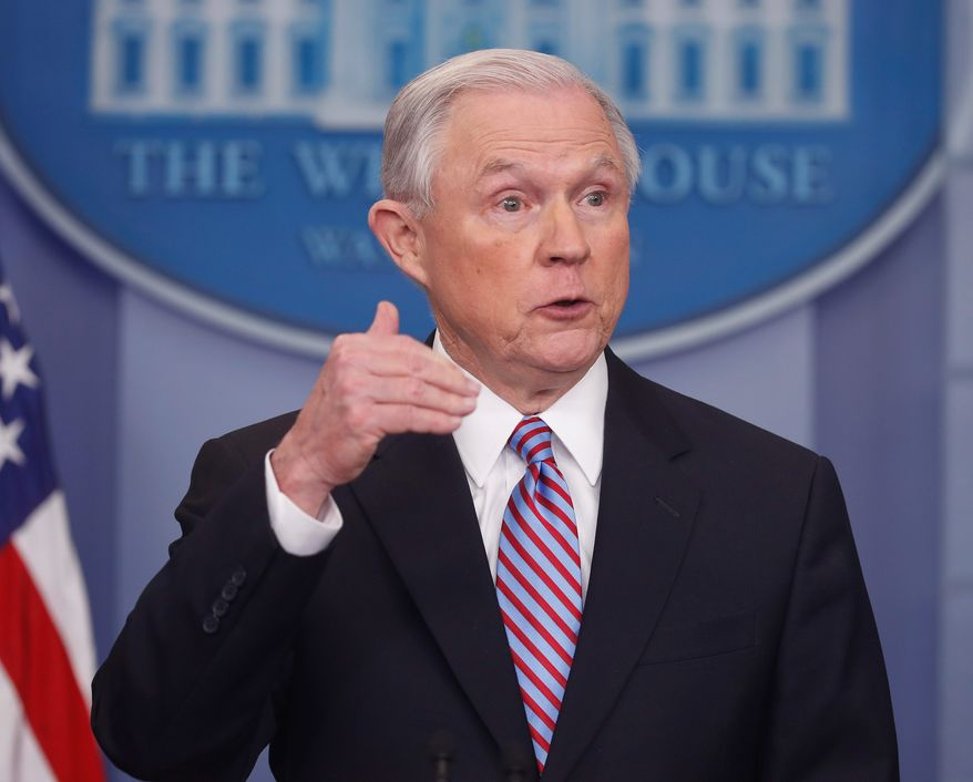"""The President has made dismantlement and destruction of drug cartels a top priority,"" said Attorney General Jeff Sessions in a statement on Thursday. (Associated Press)"