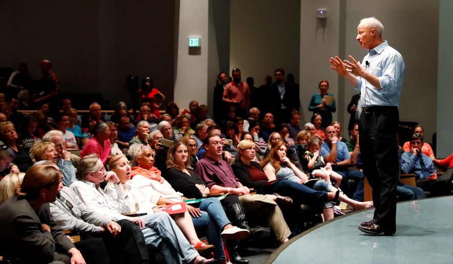 """The fact is that people are concerned about the changes over health care,"" said Rep. Mike Coffman of a rather heated town hall meeting. (Associated Press)"