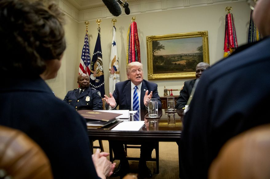 President Trump ordered positions on missile strikes against the Syrian military, after telling voters during the campaign that the U.S. was involved in too many military operations overseas. He also pronounced that NATO is no longer obsolete and said he will not label China as a currency manipulator. (Associated Press/File)