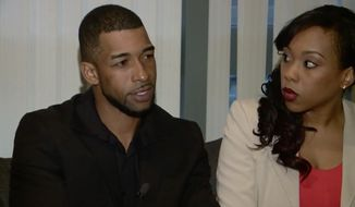 Former Marine Sgt. Hisashi Pompey, left, is asking for New Jersey Gov. Chris Christie's help as he reports to prison next week to serve a 3-year sentence for carrying an un-licensed handgun in the state six years ago.  (WUSA 9)